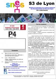 Telecharger le bulletin 218 juin 2019